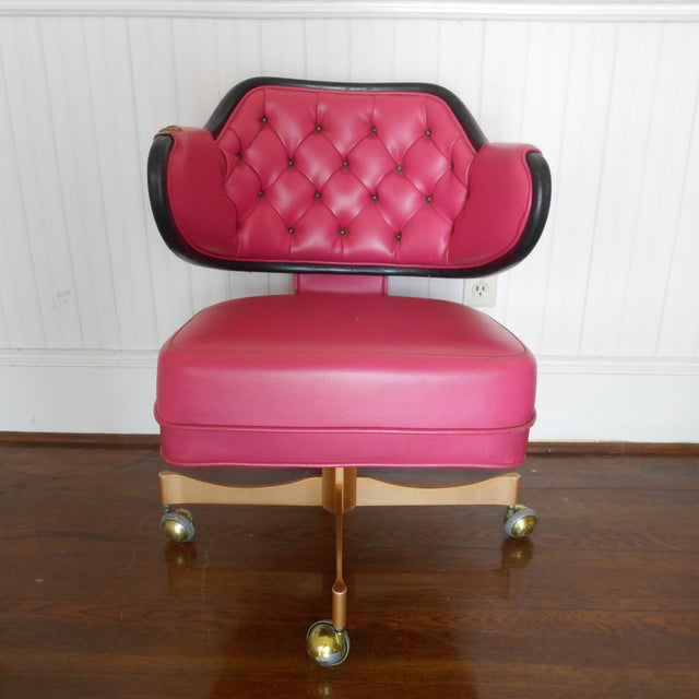 Pink Tufted Swivel Chair - Image 4 of 10