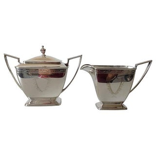 Sheffield Silver Plate Creamer & Sugar - A Pair