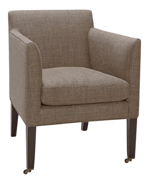 Lee Industries Upholstered Library Chair On Casters