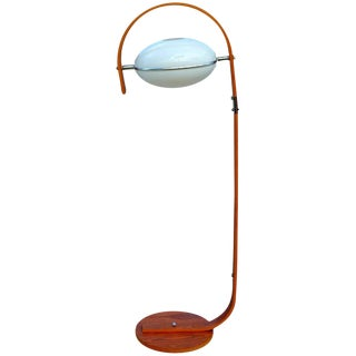 Molded Plywood & Lucite Floor Lamp