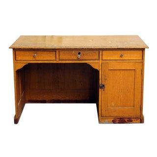 Restorable Oak Wood Library Desk