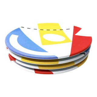 Vintage Melamine Copco Plates - Set of 4