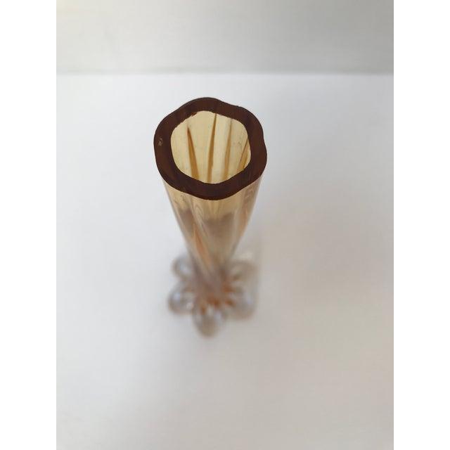 Amber Glass Art Tall Vase - Image 4 of 5