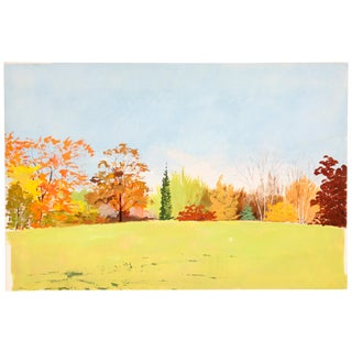 Contemporary Autumn Field Painting