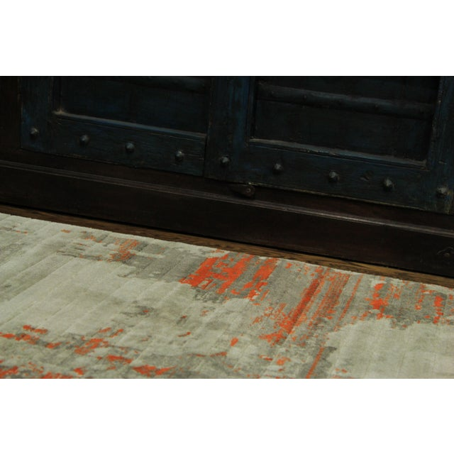 Contemporary Abstract Orange Rug - 2'8''x10' - Image 5 of 5