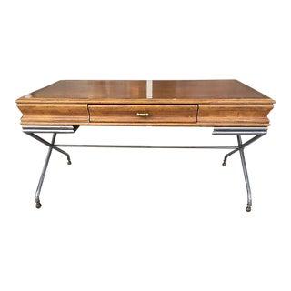 Maison Jansen Vintage Wood & Metal Desk
