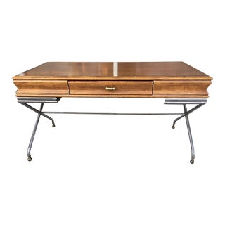 Maison Jansen Vintage Wood & Metal Desk