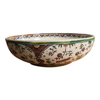 Hand-Painted Large Serving Bowl