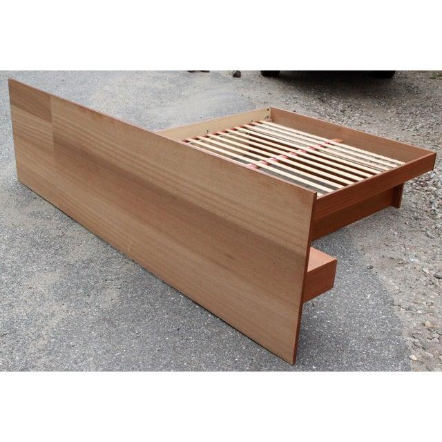 Danish Teak Queen Bed With Floating Nightstands - Image 11 of 11