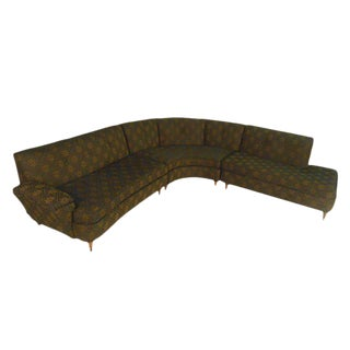 Mid-Century Modern Three Piece Sectional Sofa