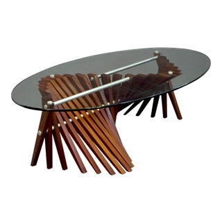 Saumur Exotic Wooden Base Coffee Table