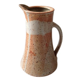 Rustic Modern Studio Pottery Raku Pitcher