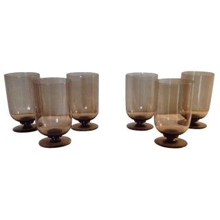 Vintage Smoke Glasses - Set of 6