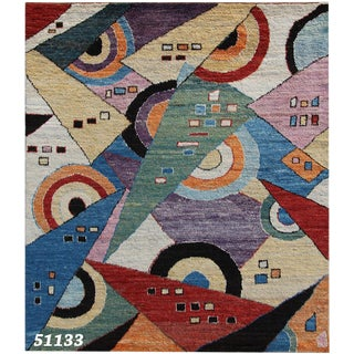 "Abstract Modern / Contemporary Area Rug - 8'2"" X 9'8"""