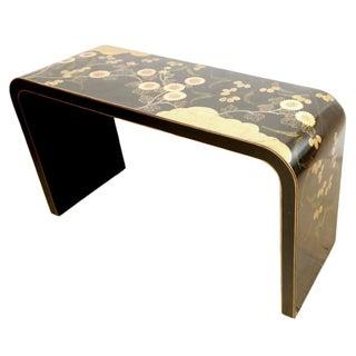 Vintage Black & Gold Parsons Table