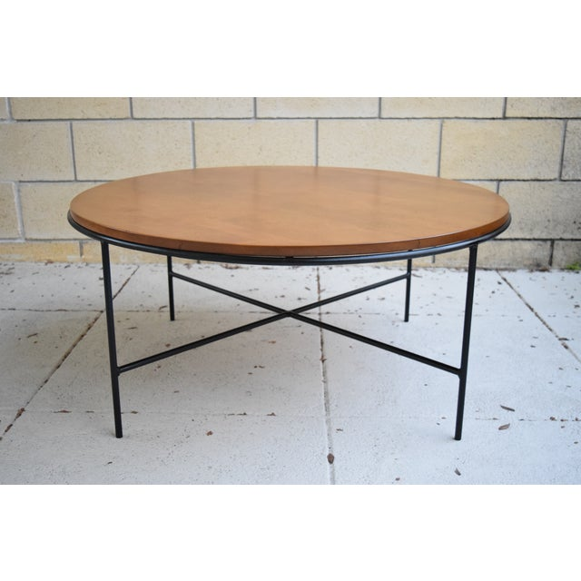 Paul McCobb Mid Century Modern Iron Base Round Coffee Table - Image 11 of 11