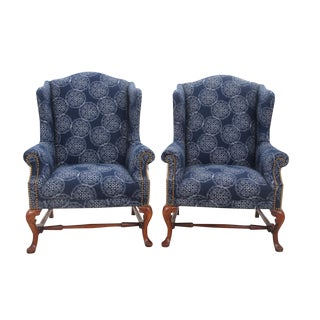 Queen Anne Wingbacks - A Pair