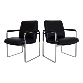 Mid-Century Modern Chrome Chairs - A Pair