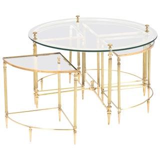 Neoclassic Nesting Coffee Table Set- Set of 5