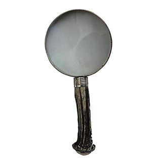 Horn & Sterling Handled Magnifying Glass