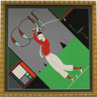 "1930s ""Art Deco Golfer"" Serigraph"