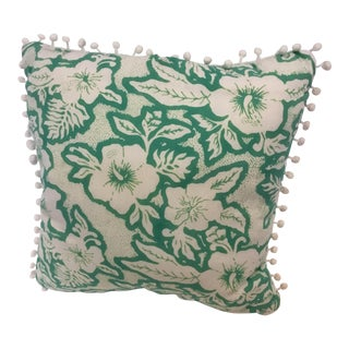 Balinese Green and White Pillow