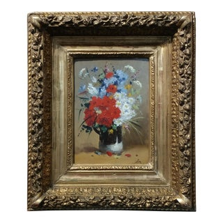 Beautiful Flower Bouquet -19th century Still life oil painting - by Colin