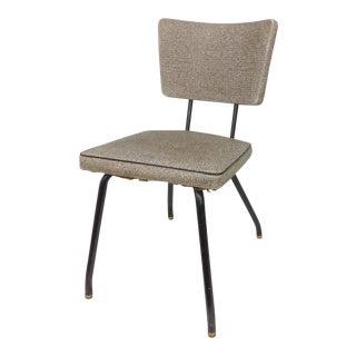 Naugahyde Mid-Century Modern Industrial Metal Bistro Chair
