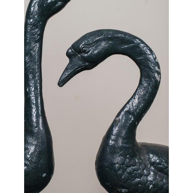 Pair of Vintage English Zinc Garden Geese circa 1940 - Image 10 of 10
