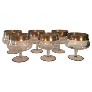 MCM Dorothy Thorpe Gold Band Cocktail Glasses -S/6