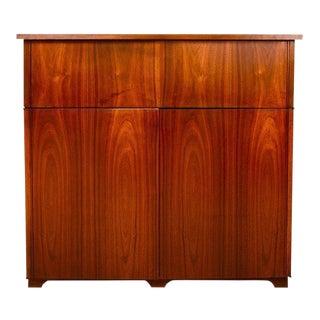 Mid-Century Modern Walnut Cabinet Desk