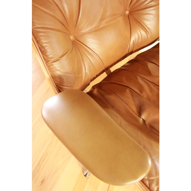 Eames Style Selig Chair & Ottoman, 1975 - Image 6 of 10