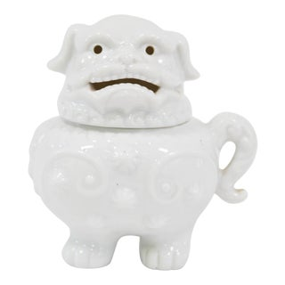 Blanc De Chine Foo Dog Incense Burner