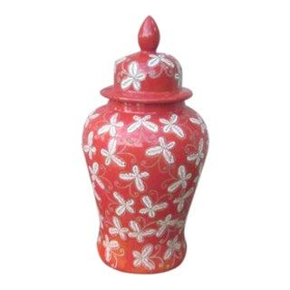 Orange and White Butterfly Planter Vase