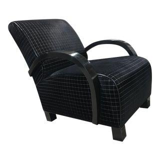 Art Deco Style Custom Velvet Lounge Chair