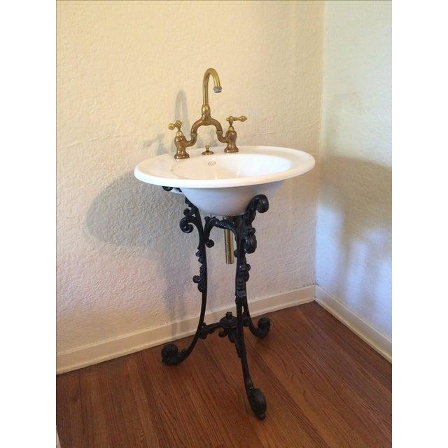 Kohler Cast Iron Pedestal Amp Porcelain Sink Chairish
