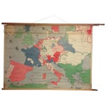 Image of Vintage Belgian School Map, Europe in the 16th C.