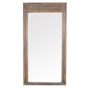 Vintage Carved Doorway Mirror Frame