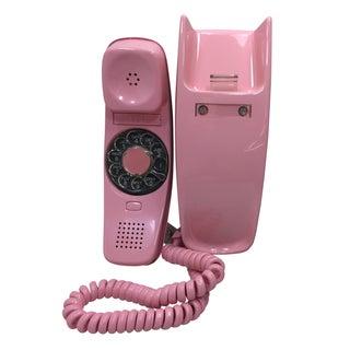 ITT Rotary Trendline Pink Wall Telephone, 1969