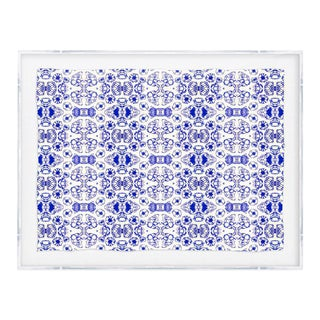 Kristi Kohut Original White & Blue Print