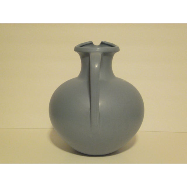 Large Art Pottery Blue Pitcher - Image 3 of 6