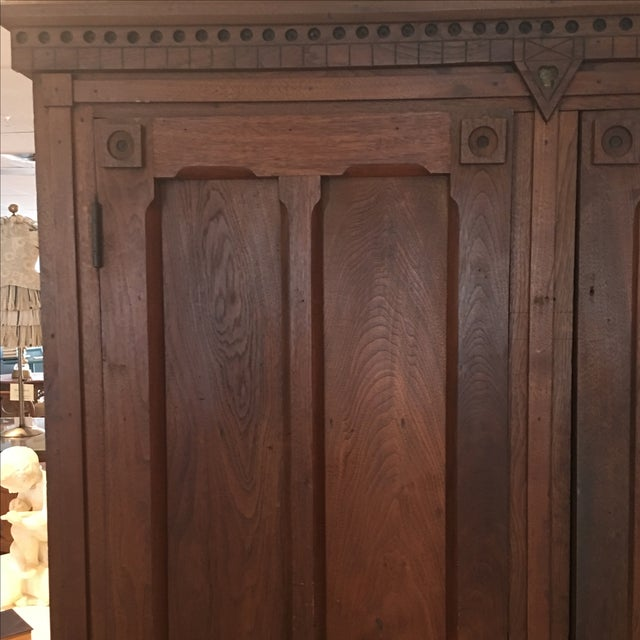 Antique 1800s Walnut Wardrobe Armoire - Image 5 of 7