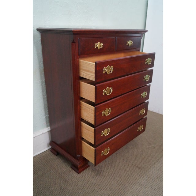 Colonial Furniture Co Chippendale Style Solid Cherry Tall Chest Chairish