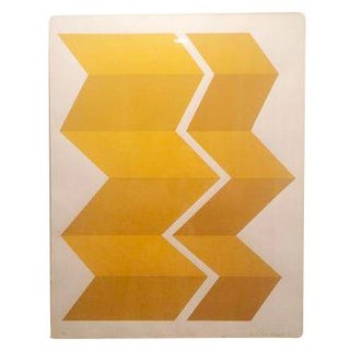 MCM Geometric Gold & Yellow Art