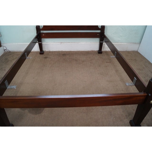 Image of Queen Size Rice Carved Tall Poster Bed