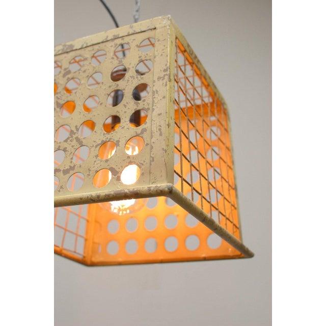 Vintage Barn Metal Pendant Hanging Light - Yellow - Image 4 of 6