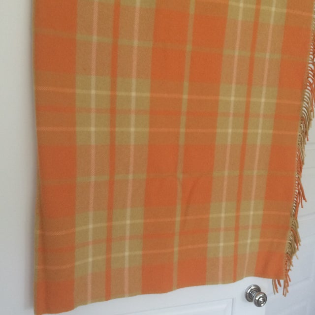 Orange Wool Blanket from London - Image 4 of 8
