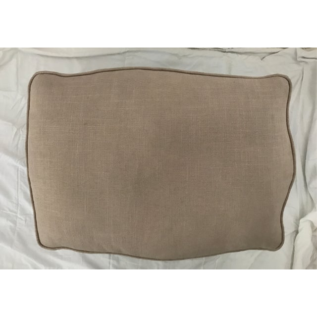 Image of French Style Linen Ottoman