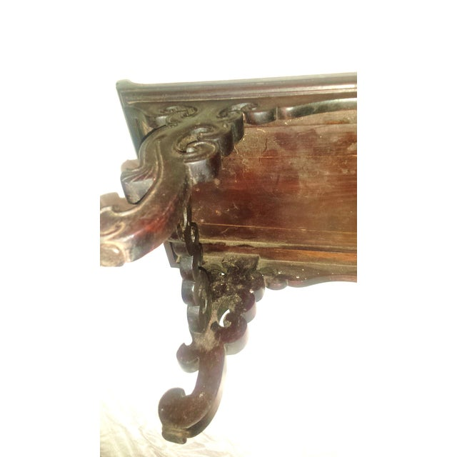 Small Antique Chinese Lacquered Wooden Altar Bench - Image 7 of 11