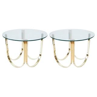 Roger Sprunger Sculptural Brass End Tables - A Pair